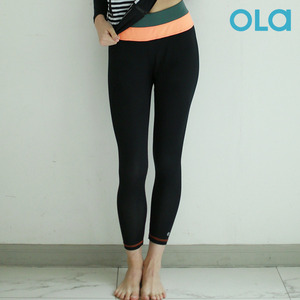 W NEON-ORANGE WATER LEGGINGS